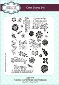 Creative Expressions - Floral Happiness Journaling A5 Clear Stamp Set - CEC879
